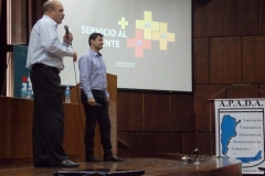 Cmdte. Gabriel Rossi y Sr. Fabián Bustos (Grupo LAN)
