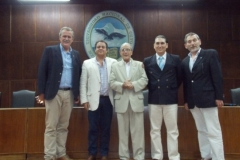 Ing. Aer. Juan Bertuzzi, (Presidente C.P.I.Ay E) Sr. Luis Antequera, Sr. Marcelo Sana, Ing Aer. Guillermo Zotta (C.P.I.A.y E) y Sr. Carlos Copello (C.P.I.A.y E)